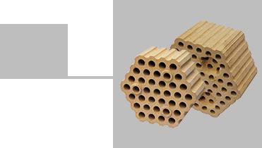 高效小孔格子磚