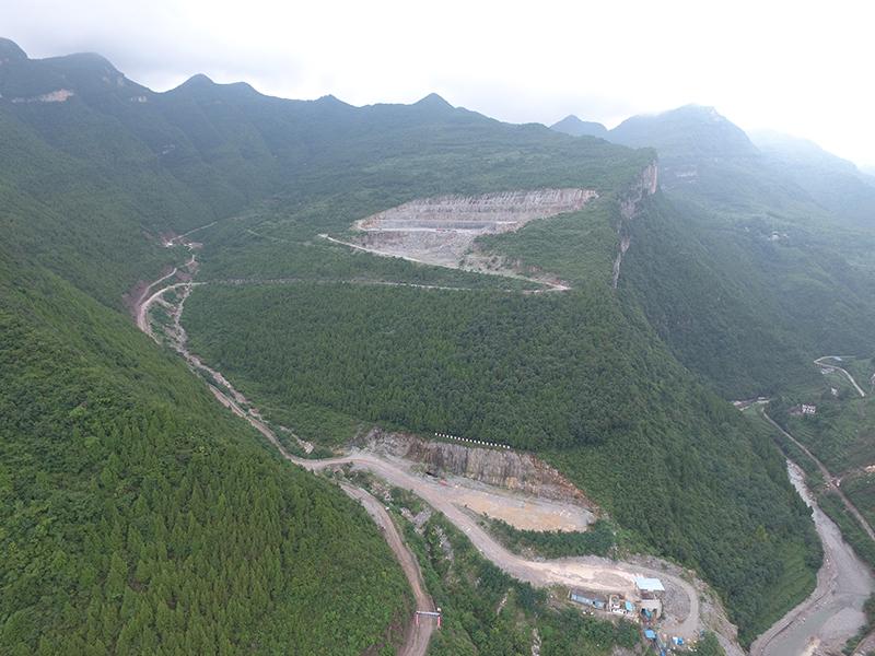 旺蒼西南水泥有限公司礦石開采工程