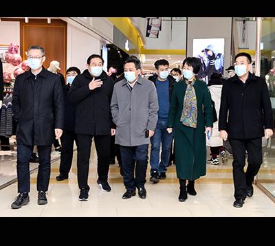 濰坊市商務局局長王富、壽光市委書記趙緒春等領導到集團調研