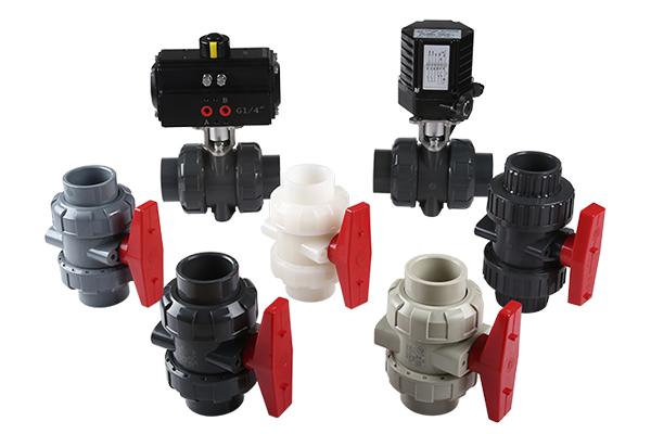 UPVC、CPVC、PPH、PVDF球阀及气动、电动球阀