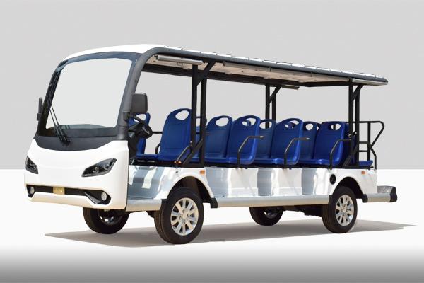 新款十四座电动观光车公交座椅