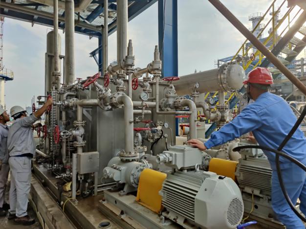 公司监理的斯尔邦二期丙烷产业链项目空压机油运顺利展开