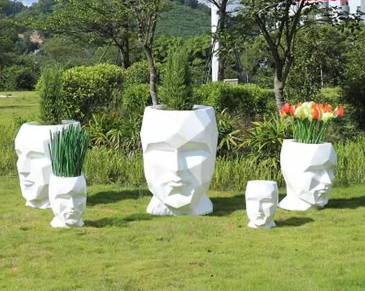 玻璃雕塑-花缽