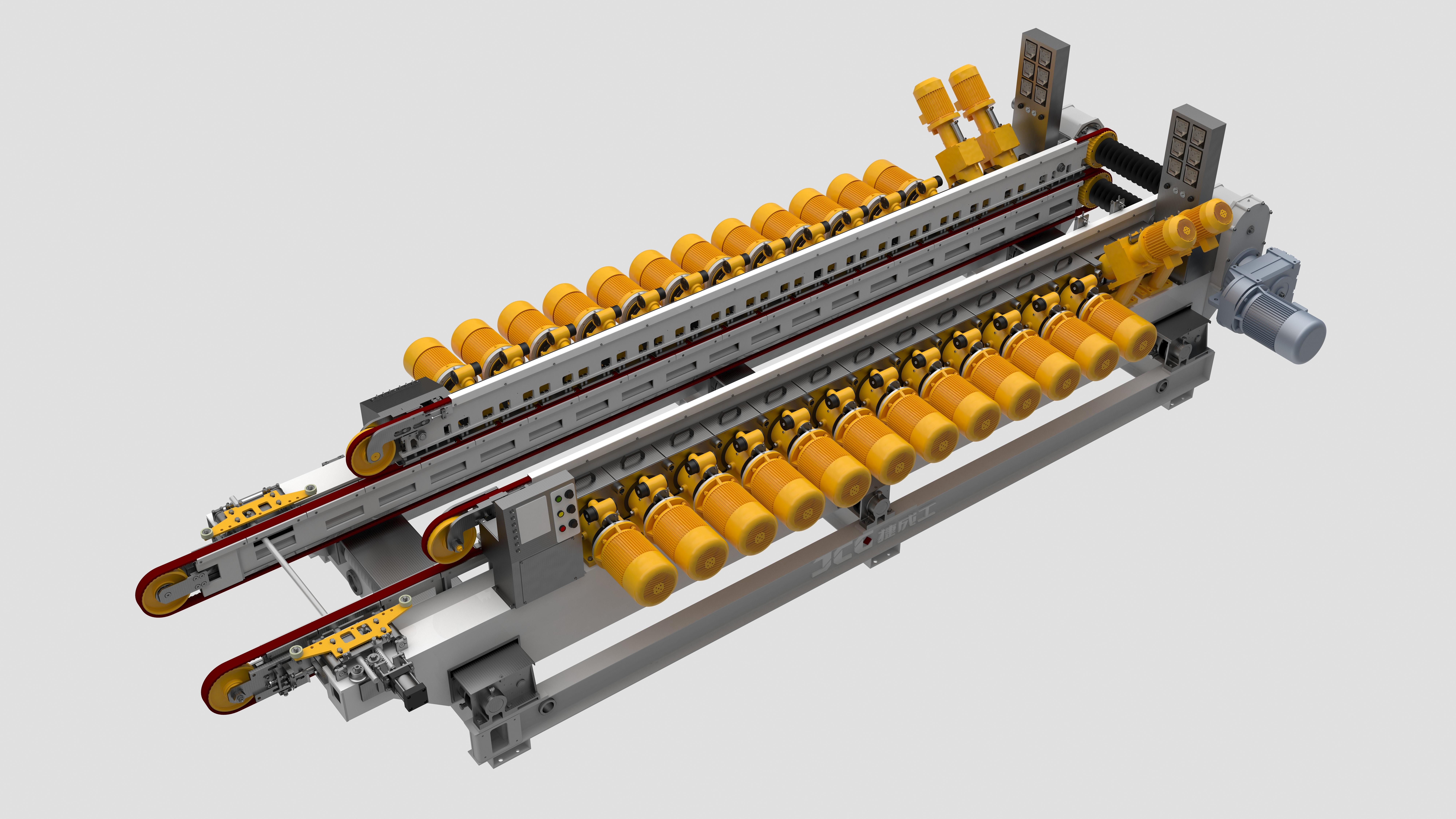 JCQS800H50(24+4) 條形磚磨邊機