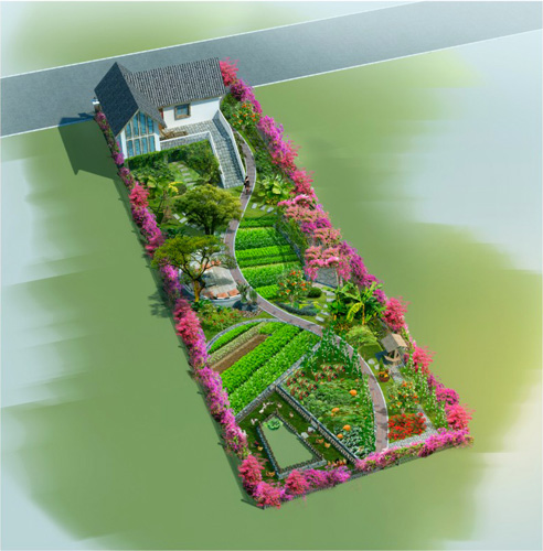 那貴坡后庭景觀設計