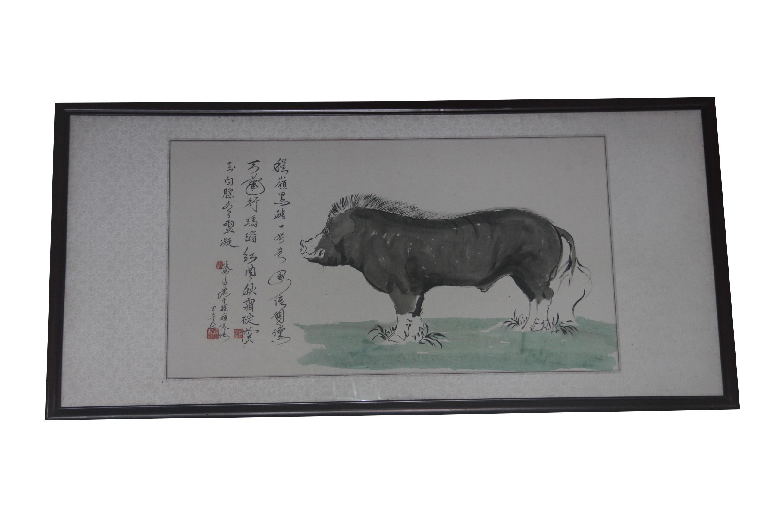 程岭黑山猪画1