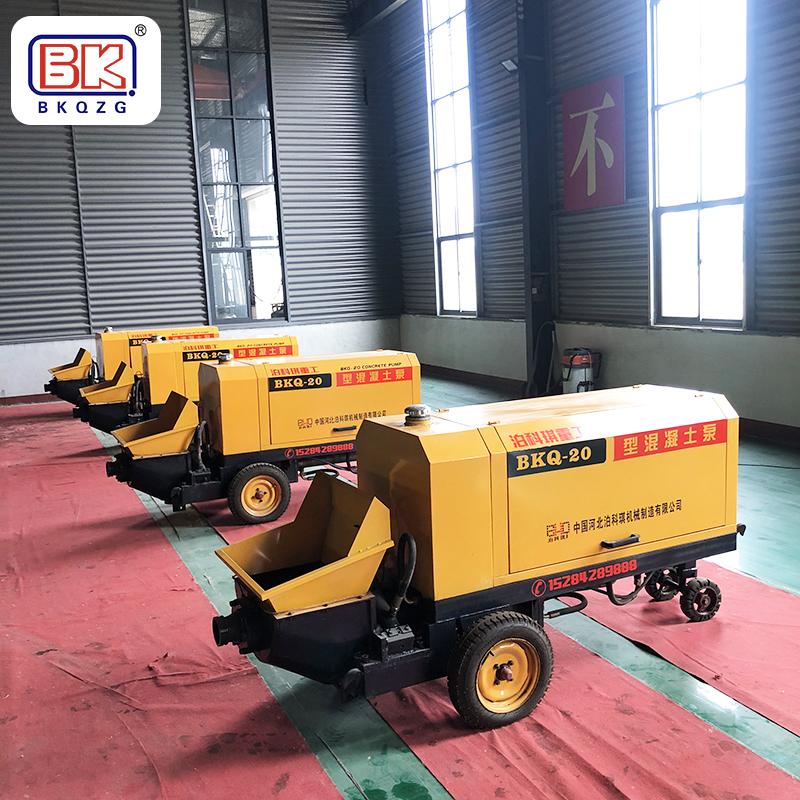 河北泊科琪機械制造有限公司研發、生產銷售二次結構澆筑泵,混凝土輸送泵