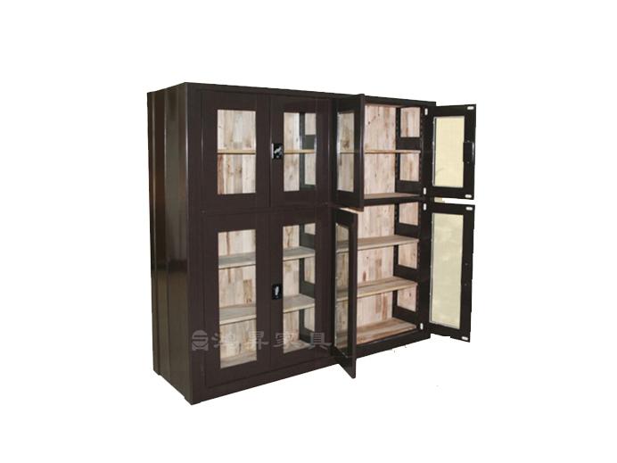 双面钢木古籍书柜