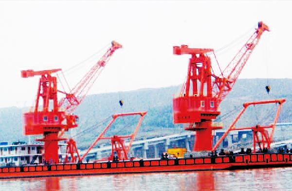 雙十噸浮吊躉船