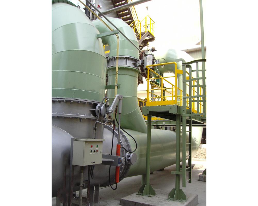 武鋼耐火活性石灰套筒窯高溫煙氣除塵系統工程