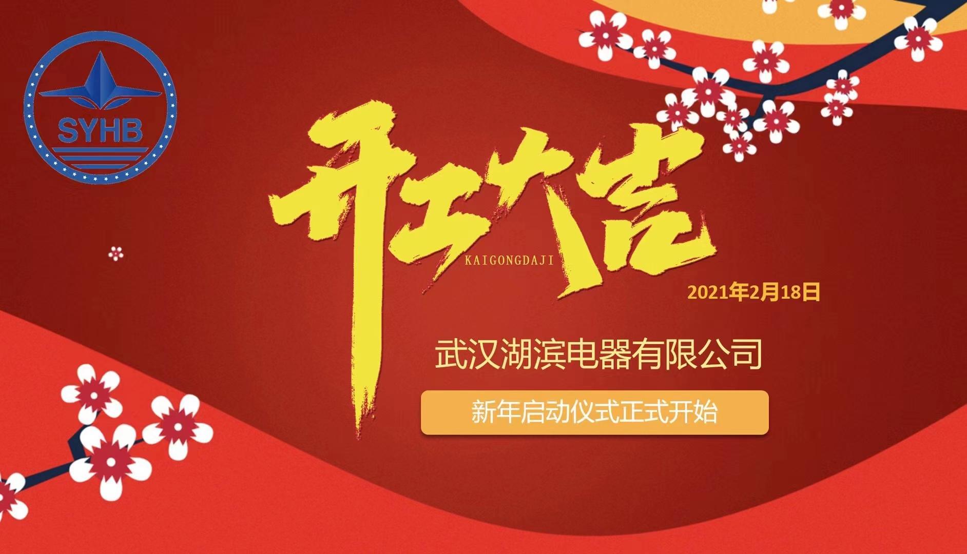 新春新動力  啟程再出發 ——武漢湖濱電器有限公司開工動員部署大會