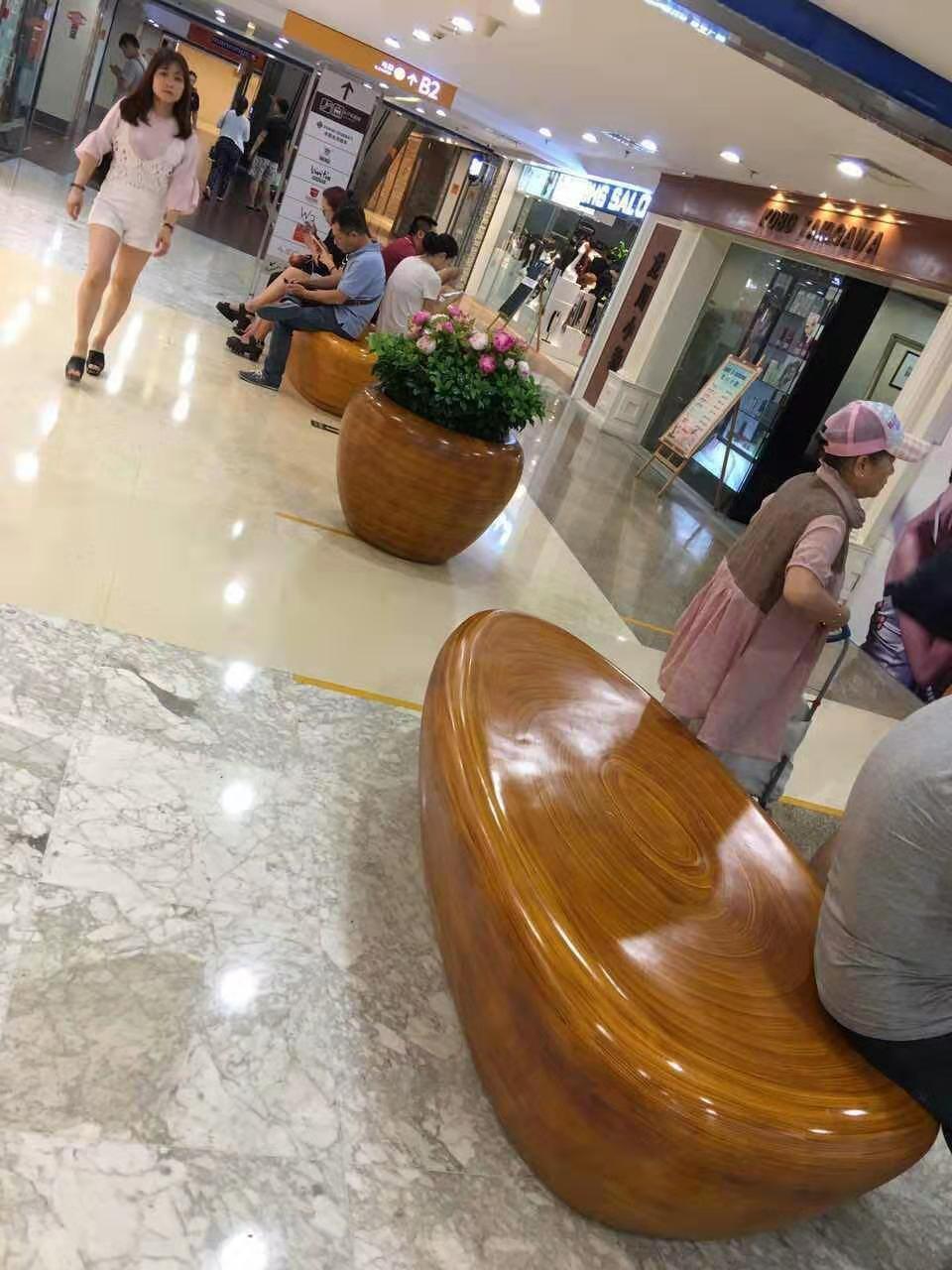 玻璃雕塑-商場凳子