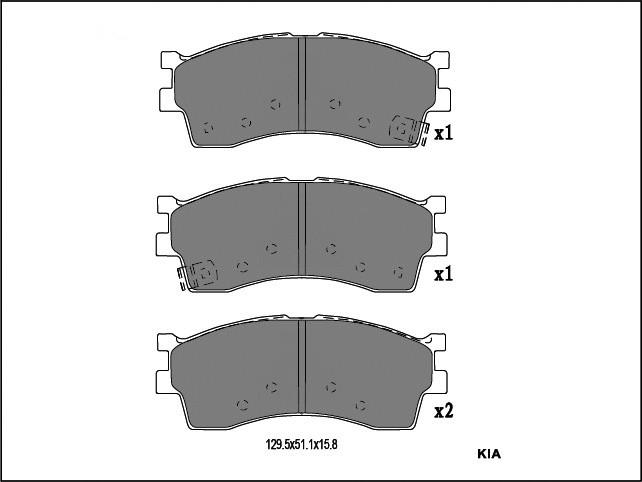 起亞 前剎車片 D889