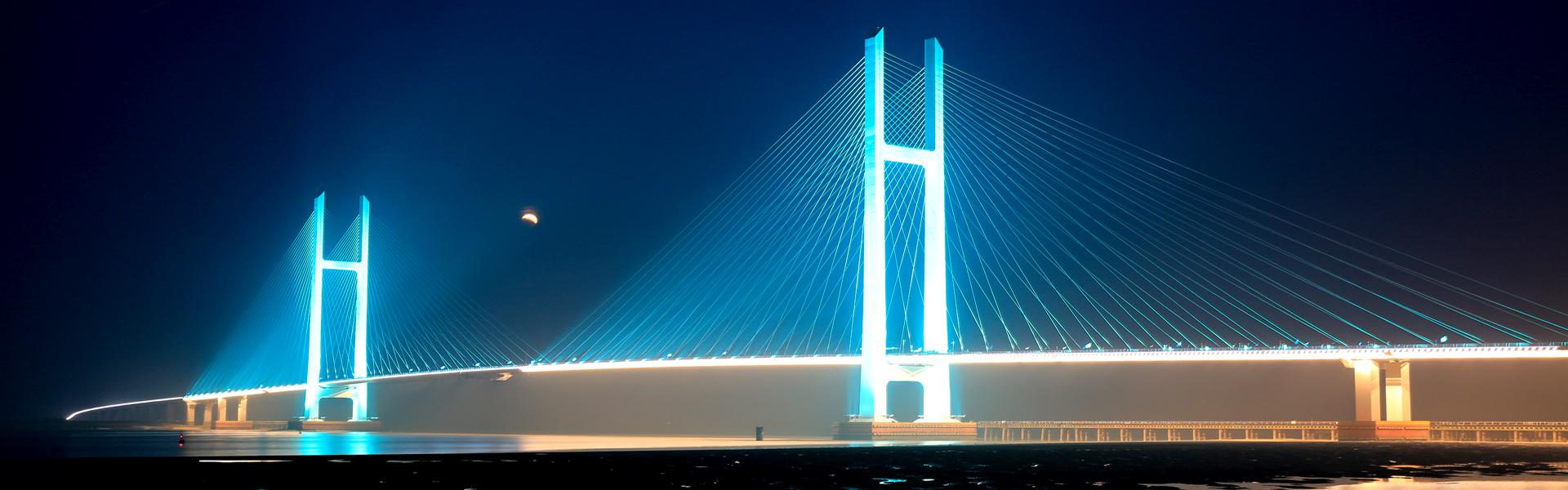 中朝邊境鴨綠江大橋亮化工程