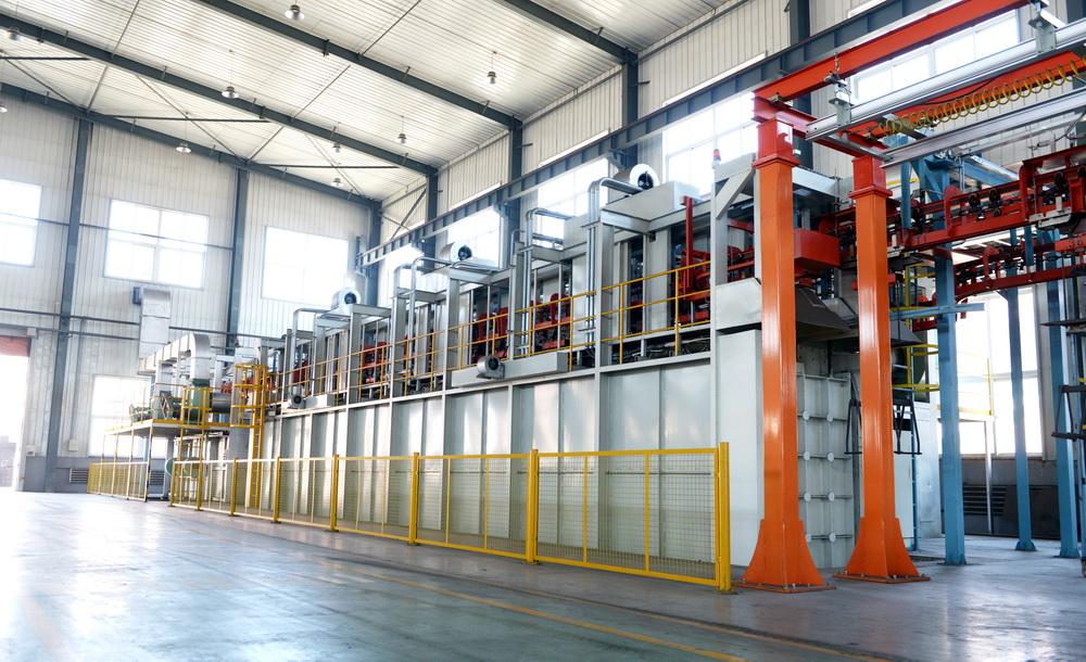 懸掛式熱處理生產線